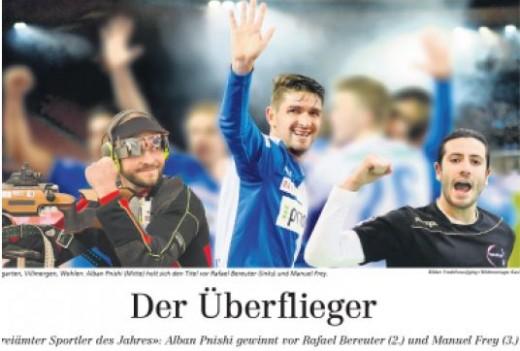 """Alban Pnishi """"Sportist i Vitit 2015"""" në regjionin Freiamt"""