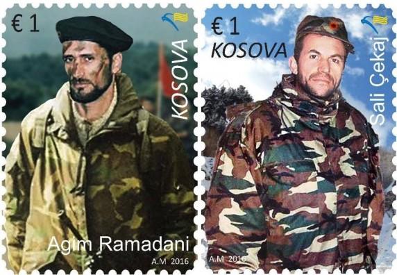 Agim Ramadani und Sali Cekaj auf Briefmarken - Albinfo