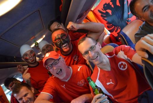 Atmosfera para lojës Zvicër vs Shqipëri dy vite më parë në Luzern