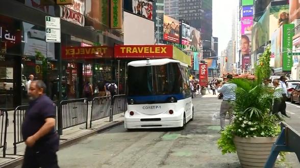 Autobusi i parë pa ngasës bën xhiro në New York