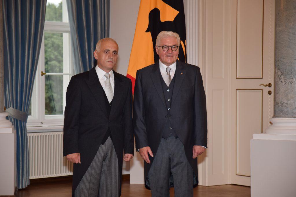 Ambasadori Cufaj i dorëzoi kredencialet presidentit gjerman