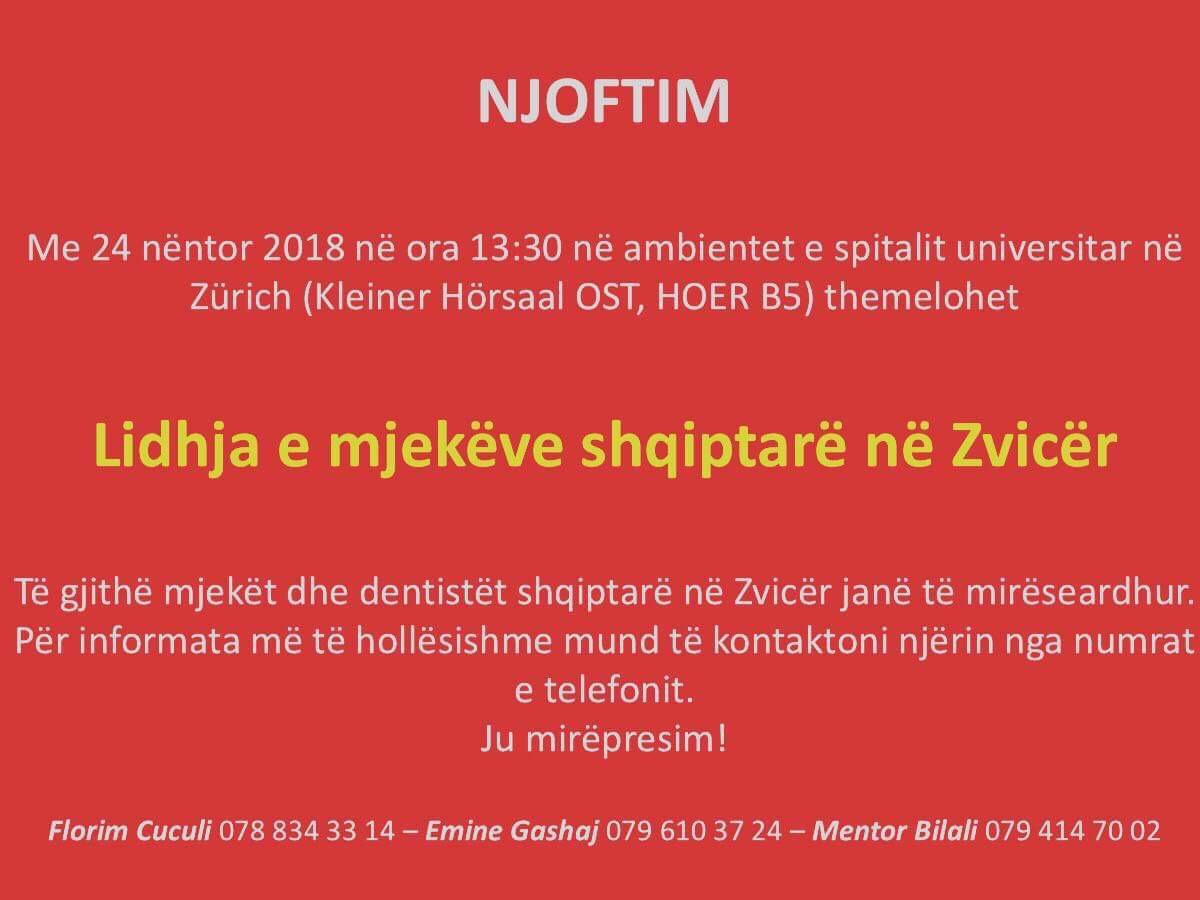 Lidhja e mjekëve shqiptarë drejt finalizimit