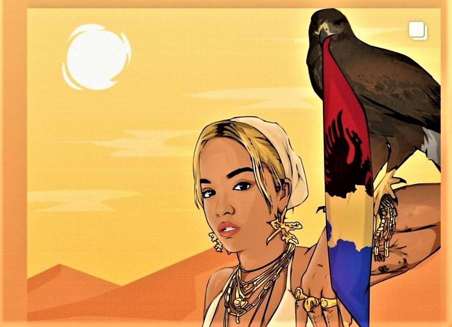 Rita Ora publikon motive kombëtare