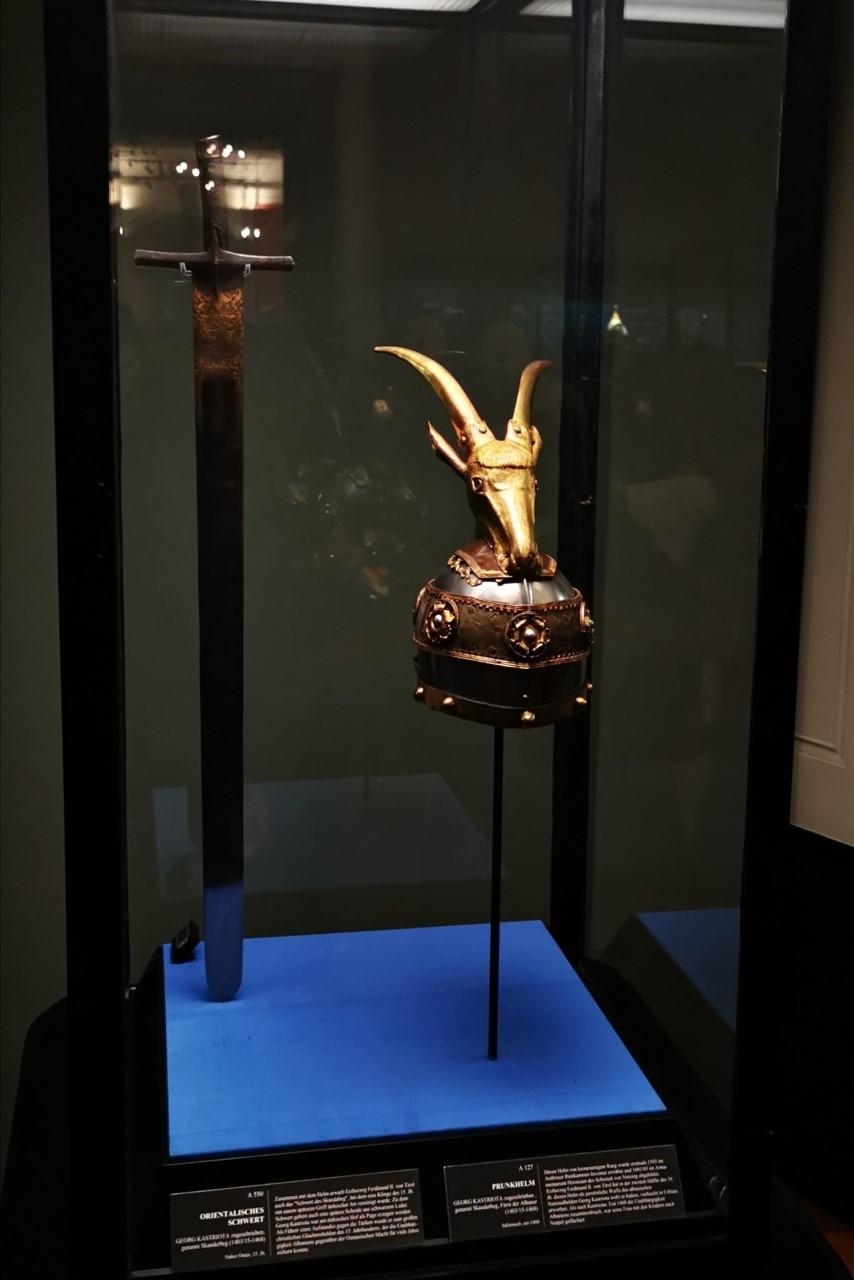 Reliktet e Gjergj Kastriotit - Skenderbeu në muzeun e Vjenës